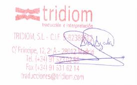 Traducciones Tridiom